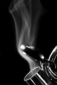 Steam rising out of a tea pot