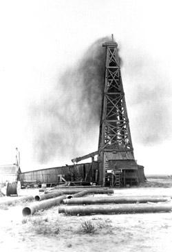 Image of the Santa Rita oil well