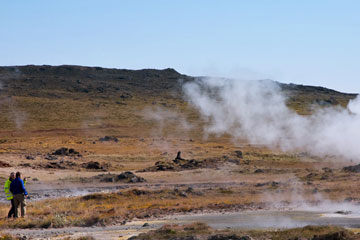 Fumarole field in Iceland
