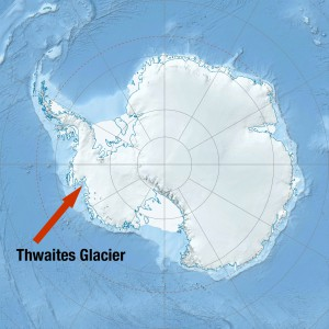 Map showing location of Thwaites Glacier