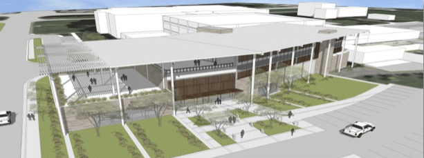 Concept drawing for the new addition to be located adjacent to TACC