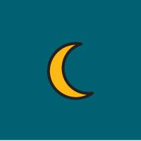 illustration of crescent moon