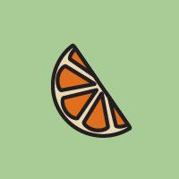 illustration of an orange slice