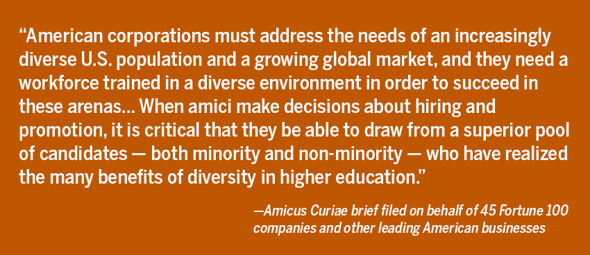 Amicus Curiae brief filed on behalf of 45 Fortune 100 and other leading American Businesses