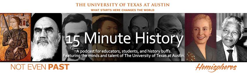 website header for 15-Minute History podcast
