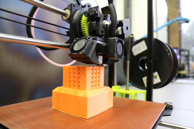3D Printing of UT Tower at Foundry