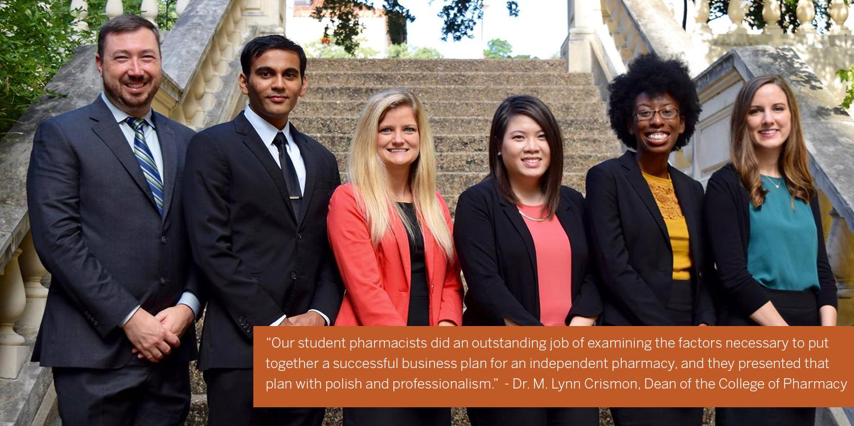 UT pharmacy students
