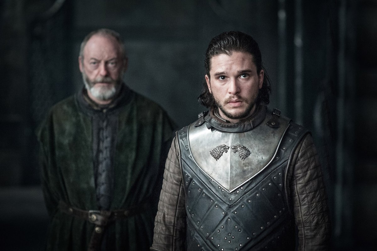 Jon Snow and Davos Seaworth